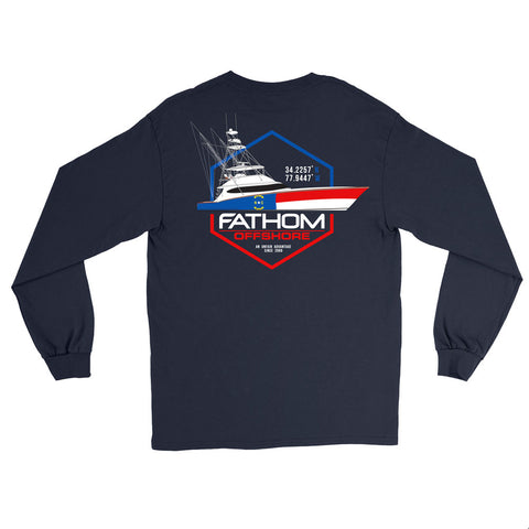 Carolina Crew Long Sleeve Pocket T Shirt
