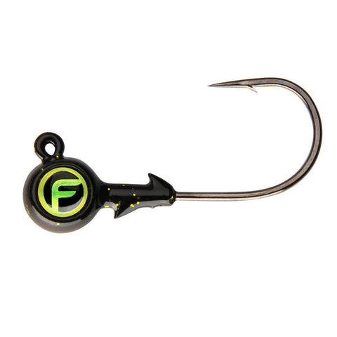 Bug Eye Jig Heads black and green