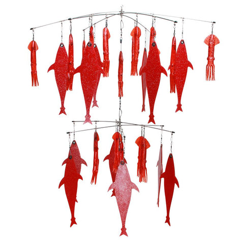 "Double Tier Red Flapjack SR Squid Combo 36"" + 24"" Dredge"
