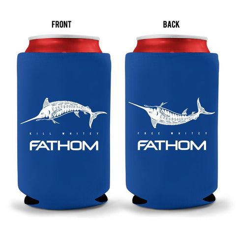 fathom offshore blue kill whitey koozie front and back