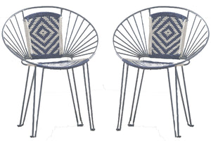 Pair of Bohemian Style Outdoor/Indoor Chairs