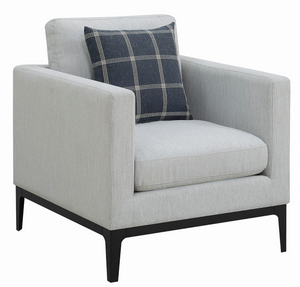 Crisp modern lines and a soft woven upholstery. Fully reversible cushions offer easy maintenance while the solid wood frame ensures long-lasting durability and comfort.