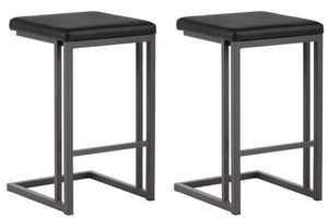 2 x Black Urban Counter Stool