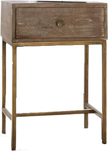 Rustic & Gold Nightstand