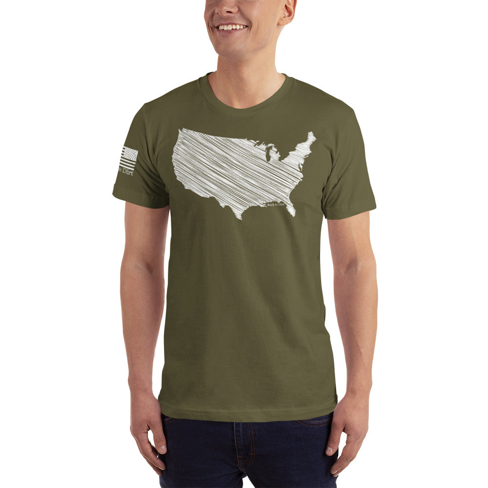Scratched United States of America Men's T-Shirt