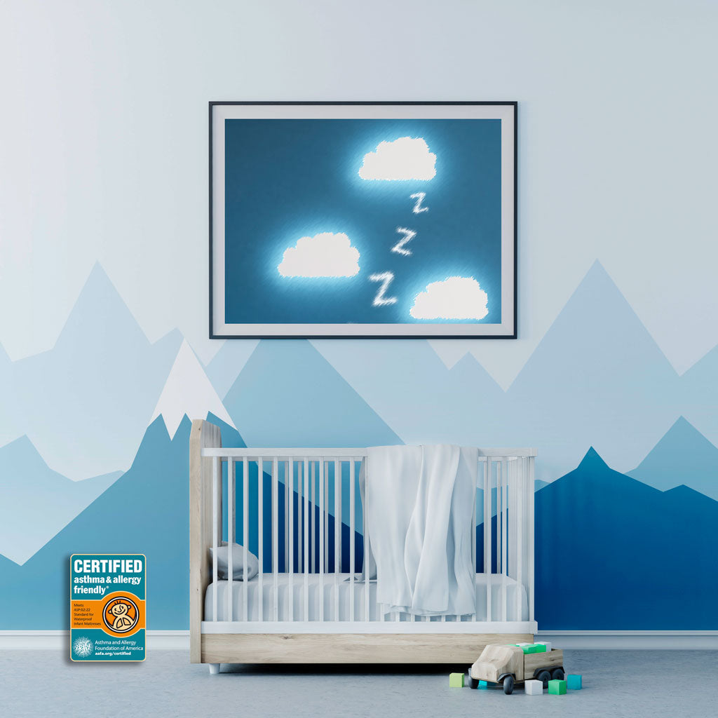 Create a healthier sleep environment in your baby's nursery room by using asthma & allergy friendly certified products and services