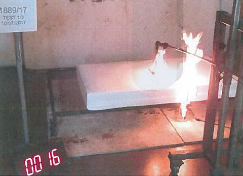 baby mattress flammability test