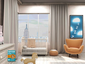 A Healthier New York Nursery Room helped by a Pure Zees crib mattress that is certified asthma & allergy friendly