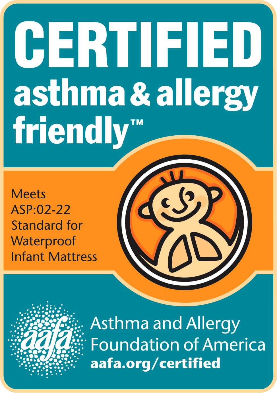 Pure Zees asthma & allergy friendly certified European crib mattress