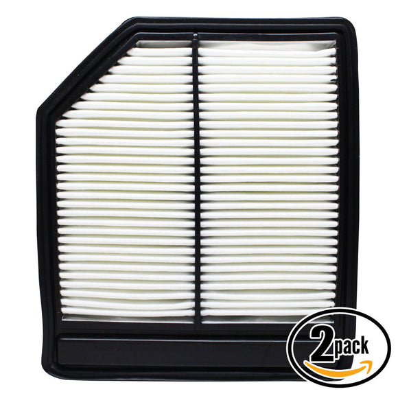 2-Pack Engine Air Filter Replacement for 2007 Honda Civic L4 1.8 Car/Automotive