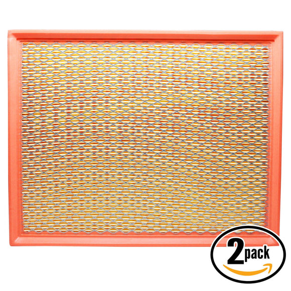 2-Pack Engine Air Filter Replacement for 2002 Cadillac Escalade V8 5.3 Car/Automotive