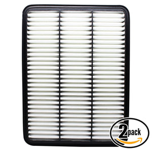 2-Pack Engine Air Filter Replacement for 2000 Toyota Tundra V8 4.7 Car/Automotive