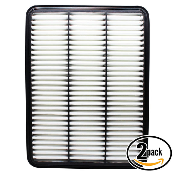 2-Pack Engine Air Filter Replacement for 2006 Toyota Sequoia V8 4.7 Car/Automotive