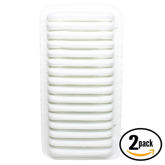 2-Pack Engine Air Filter Replacement for 2007 Pontiac Vibe L4 1.8 Car/Automotive