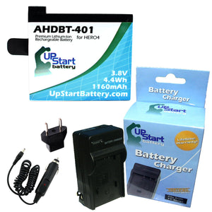 GoPro AHDBT-401 Battery and Charger with EU Adapter