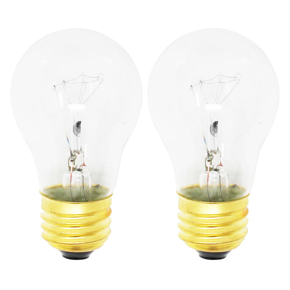 2-Pack Replacement Light Bulb for White Westinghouse CWEF310GSF Range / Oven