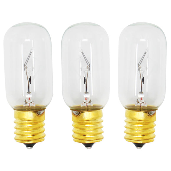3-Pack Compatible LG Electronics 6912W1Z004B Microwave Oven Light Bulb