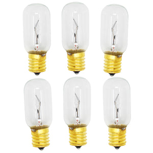 6-Pack Compatible LG Electronics 6912W1Z004B Microwave Oven Light Bulb