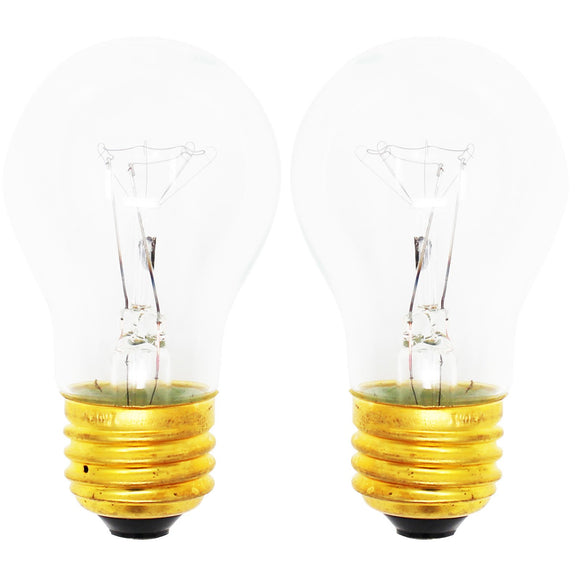2-Pack Replacement Light Bulb for Whirlpool RS675PXBH0