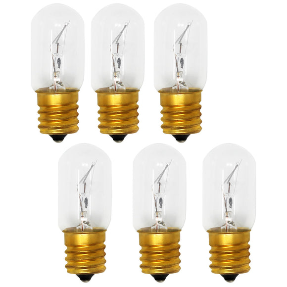 6-Pack Compatible Whirlpool 8206232A Light Bulb