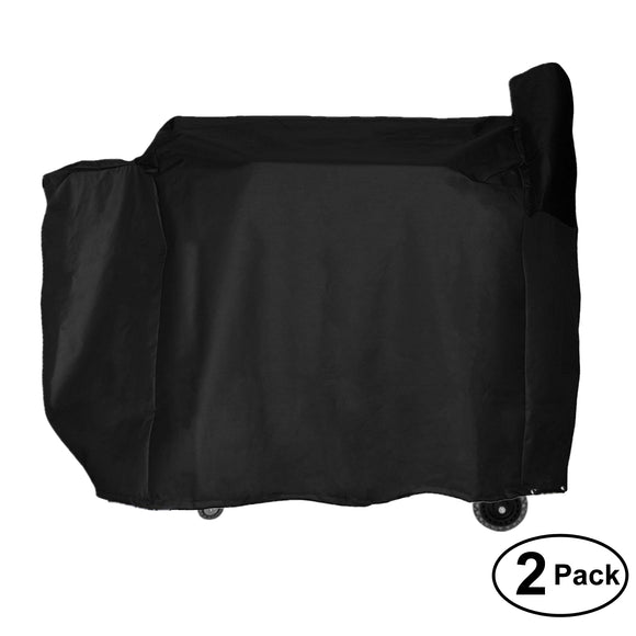 2 Pack Grill Cover Heavy Duty Waterproof Replacement for Traeger Texas Elite 34 Wood Pellet Grill, Pro 34 Series Wood Pellet Grill, Century 34 Wood Pellet Grill - 53 inch W x 27 inch D x 49 inch H