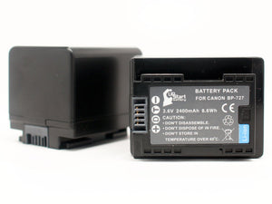 2x Pack - Canon BP-709 Decoded Battery