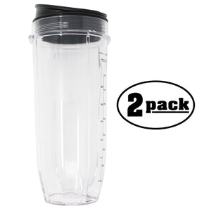 2-Pack Nutri Ninja 32 oz Replacement Cup 407KKU641