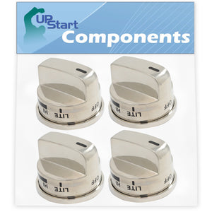 4 Pack Gas Range Knob Replacement for LG EBZ37189611 Compatible with LG LRG30355ST Gas Range (Non Super Boil)