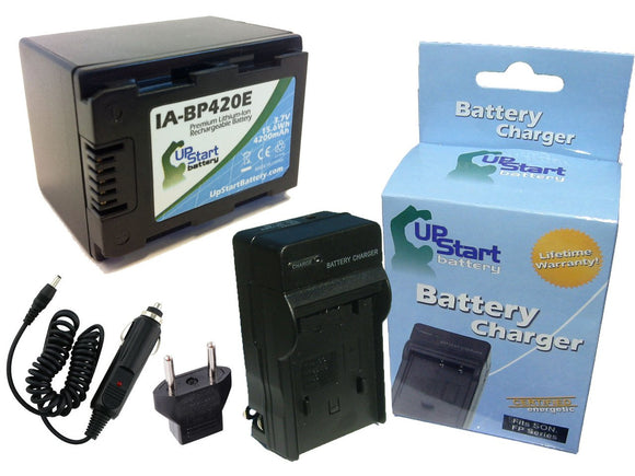 Samsung IA-BP420E Battery and Charger with Car Plug and EU Adapter