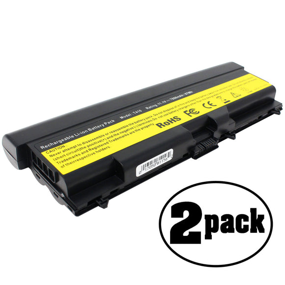2-Pack Compatible Lenovo Thinkpad E40 E50 Laptop Battery Replacement