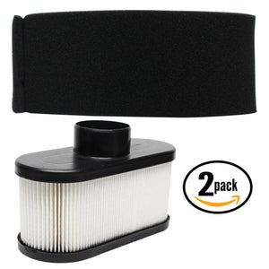 2-Pack Replacement Kawasaki FR651V AS00 4 Stroke Engine Air Filter & Pre-Filter