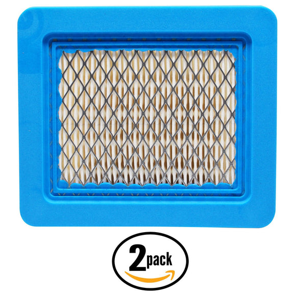 2-Pack Replacement Briggs & Stratton 92200 Series (0007-1250) Engine Flat Air Filter Cartridge