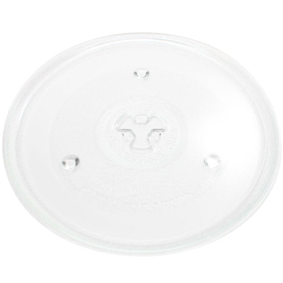 Microwave Glass Turntable Plate / Tray Replacement for Avanti, Emerson, Sunbeam, Magic Chef, Haier, Oster, GE, Sanyo, Danby, Chefmate, Tatung, Hamilton Beach, Panasonic 10 1/2