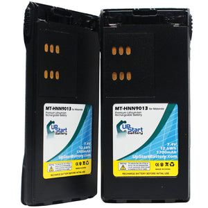 2x Pack - Motorola HT750 Battery Replacement with Clip