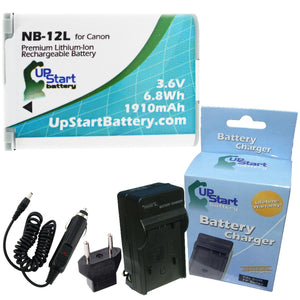 Canon NB-12L Battery and Charger with EU Adapter