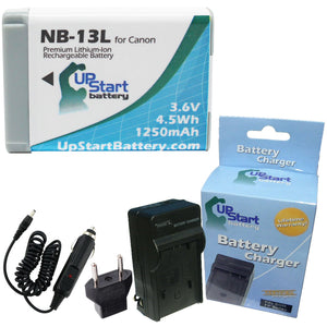 Canon NB-13L Battery and Charger with EU Adapter