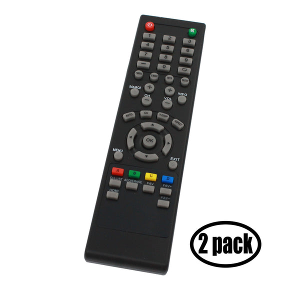 2-Pack Replacement for Seiki 84504503B01 TV Remote Control - Works with Seiki SE39UY04, SE32HY10, SE32HY27, SE32HY, SE50UY04, SC 40FS703N, SE241TS, SE47FY19, SE55UY04, SE40FY19, SC 32HS703N TVs
