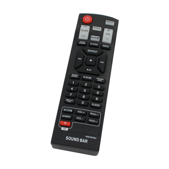 Replacement for LG AKB73575401 Remote Control - Works with LG NB3530A, NB3520A, NB2520A, NB2420A, NBN36, NB4543, NB3532A, NB4530B, NB4540, NB5540, NB4530 Soundbar Systems