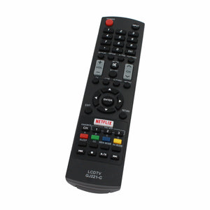 Replacement for Sharp GJ221 TV Remote Control - Works with Sharp LC 55LE653U, LC 32LE451U, LC 65LE654U, LC 48LE653U, LC 48LE551U, LC55LE653U, LC 39LE551U, LC 32LE653U, GJ221, LC65LE654U TVs