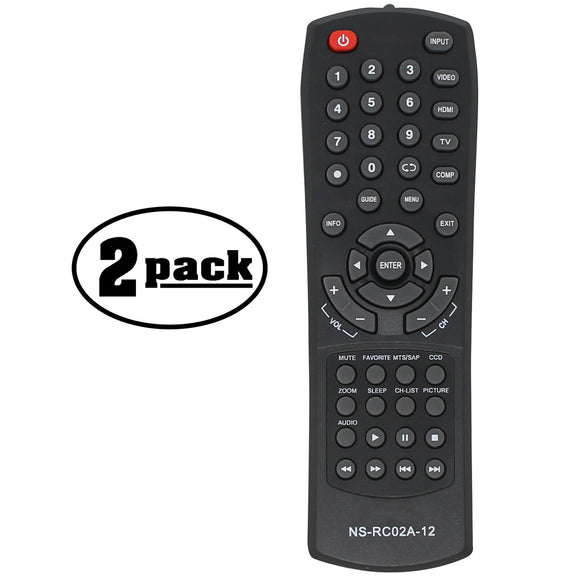 2 Replacement HDTV Remotes for Insignia NSRC02A12 Remote Control