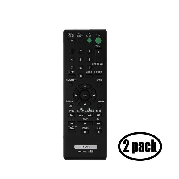2 Sony RMT-D197A DVD Player Remote Control