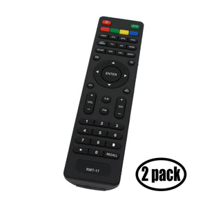 2-Pack Replacement for Westinghouse RMT17 TV Remote Control - Works with Westinghouse LD 2480, RMT 17, DW32H1G1, VR 3215, LD 3240, VR 2218, EW32S5KW, EW32S3PW, EW37S5KW, EU24H1G1, EW24T7EW TVs