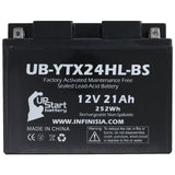 3 Pack Replacement for YTX24HL-BS Battery 12V 21AH SLA - Compatible with 2007 Arctic Cat Prowler 650, 2002 Arctic Cat Zr 800, 2003 Indian Chief, 2008 Arctic Cat Prowler 650,2006 Arctic Cat Prowler 650
