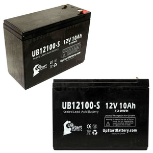 2-Pack UB12100-S Sealed Lead Acid Battery Replacement (12V, 10Ah, F2 Terminal, AGM, SLA)