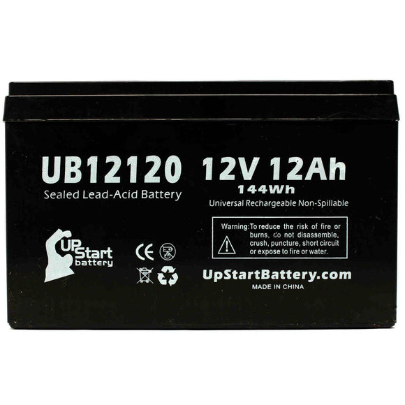 UB12120 Sealed Lead Acid Battery Replacement (12V, 12Ah, F1 Terminal, AGM, SLA)