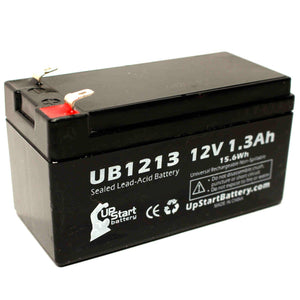 UB1213 Sealed Lead Acid Battery Replacement (12V, 1.3Ah, F1 Terminal, AGM, SLA)