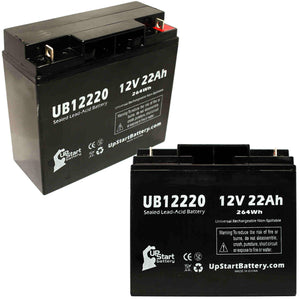 2x Pack Access Battery 12581 Battery - Replaces UB12220 Universal Sealed Lead Acid Batteries (12V, 22Ah, 22000mAh, T4 Terminal, AGM, SLA, One Year Warranty)