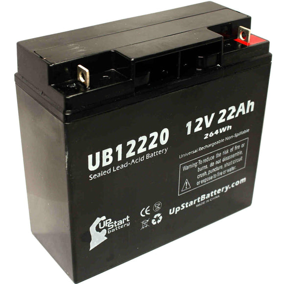 Access Battery 12581 Battery - Replaces UB12220 Universal Sealed Lead Acid Batteries (12V, 22Ah, 22000mAh, T4 Terminal, AGM, SLA, One Year Warranty)