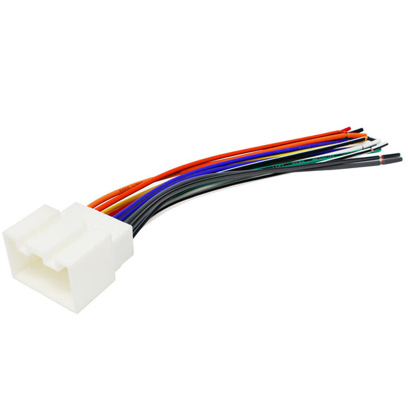 Compatible Radio Wiring Harness for Ford/Lincoln/Mazda 1998-Up into Car, 16 Pin