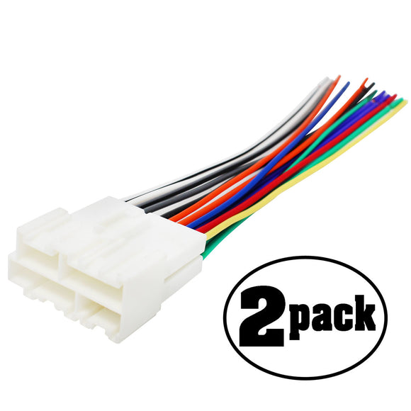 2-Pack Compatible Radio Wiring Harness For GM 88-05 Harness